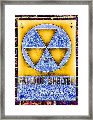 Fallout Shelter Wall 3 Framed Print by Stephen Stookey