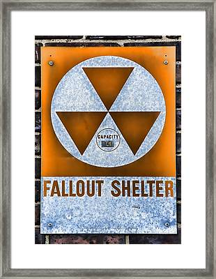 Fallout Shelter Wall 8 Framed Print by Stephen Stookey