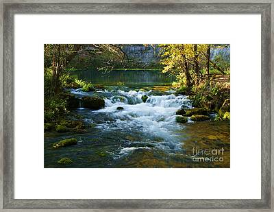Framed Print featuring the photograph Falls At Alley Spring Mill by Julie Clements