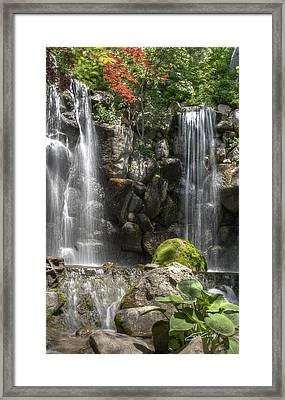 Framed Print featuring the photograph Falls At Anderson Japanese Gardens by Ed Cilley
