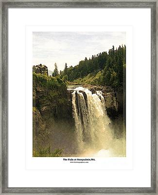 Framed Print featuring the photograph Falls At Snoqualmie by Kenneth De Tore