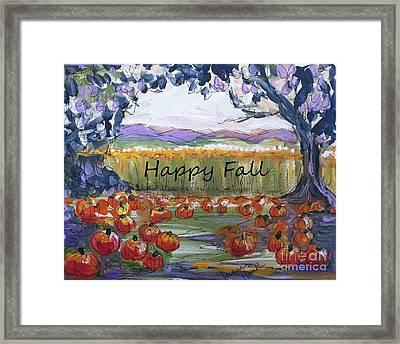 Happy Fall Greeting Card  Framed Print