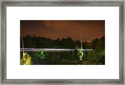 Falls Bridge Framed Print