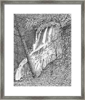 Falls Framed Print by Carl Genovese