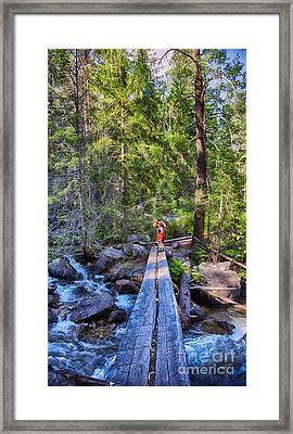 Falls Creek Footbridge Framed Print by Omaste Witkowski