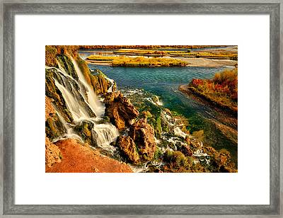 Falls Creek Waterfall Framed Print by Greg Norrell