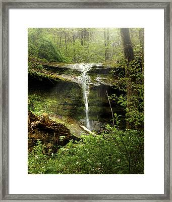 Falls For Julie Framed Print