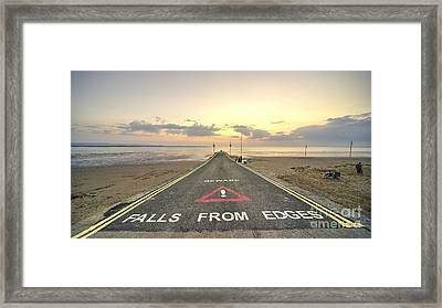 Falls From Edges  Framed Print by Rob Hawkins