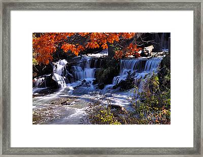 Falls In The Fall Framed Print