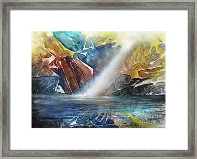 Falls In The Rocks Framed Print