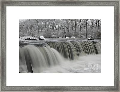 Falls In Winter Framed Print by Timothy Johnson