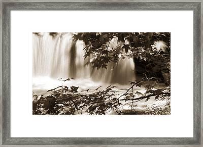 Falls Framed Print by Linda Olsen