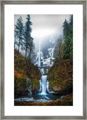 Falls Of Heaven Framed Print