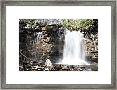 Falls Of Hillscreek 2nd Falls Framed Print by Carolyn Postelwait