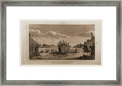 Falls Of St. Anthony, 1821, Narrative Journal Of Travels Framed Print by Litz Collection