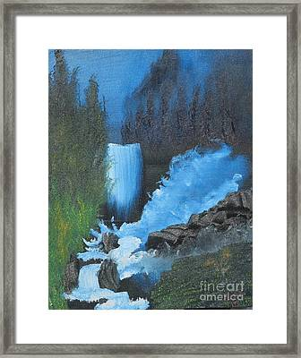 Falls On The Rocks Framed Print by Dave Atkins