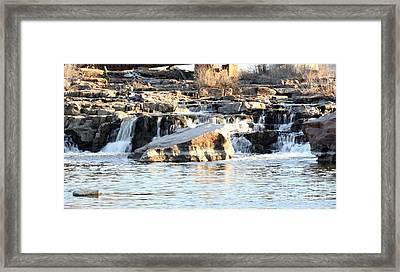 Falls Park Waterfalls Framed Print by Lori Tordsen