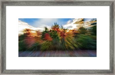 Falls Rush Framed Print