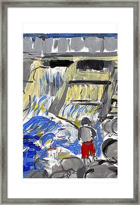 Falls Framed Print by Samuel Zylstra
