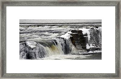 Falls Framed Print by Valerie Wolf