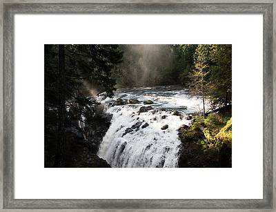 Waterfall Magic Framed Print