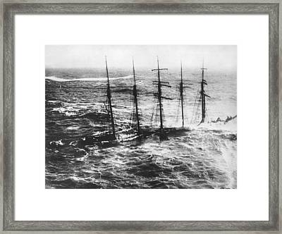Falmouth England Shipwreck Framed Print by Underwood Archives