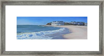 Falmouth Heights Beach Cape Cod Framed Print