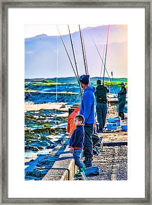 False Bay Fishing 2 Framed Print by Cliff C Morris Jr