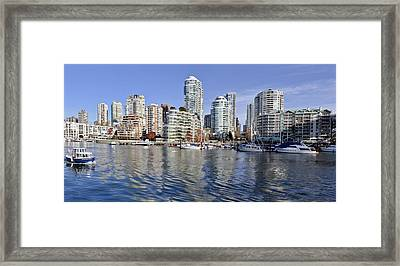 False Creek And Vancouver Framed Print by Allen Carroll