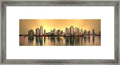 False Creek And Yaletown Panorama In Vancouver Canada Framed Print by Patricia Keith