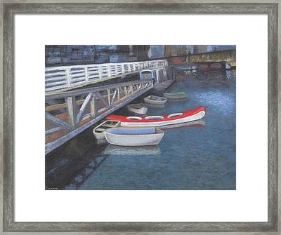 False Creek Ferry Landing Framed Print