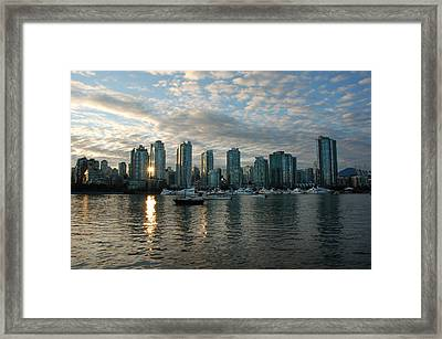 False Creek Sunset Framed Print