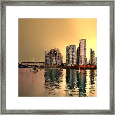 False Creek Vancouver Triptych Left Panel Framed Print by Patricia Keith