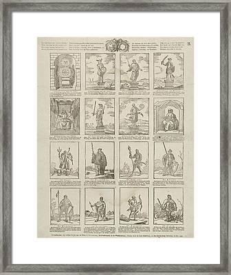 False Gods. De Beeldtenis Dier Valsche Goden Framed Print by Litz Collection