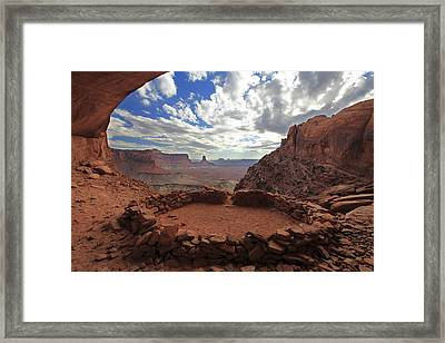 Framed Print featuring the photograph False Kiva by Alan Vance Ley
