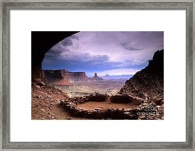 False Kiva Framed Print by Bob Christopher