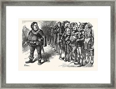 Falstaff Hancock His Ragged Regiment. Falstaff Framed Print