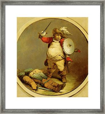Falstaff With The Body Of Hotspur Falstaff With The Body Framed Print by Litz Collection