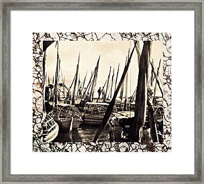 Falucas In Havana Harbor In 1898 2 Framed Print by William B Townsend