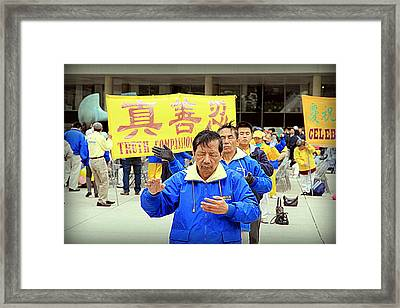 Falun Gong Supporters Framed Print by Valentino Visentini