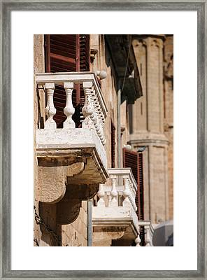 Famagusta Balconies Framed Print by Jeremy Voisey