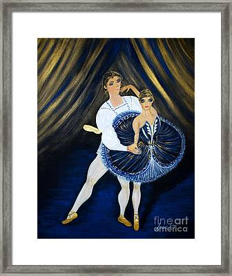 Framed Print featuring the painting Fame And Charming by Oksana Semenchenko