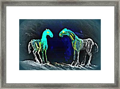There Is Familiar Light And There Is Family Darkness  Framed Print by Hilde Widerberg