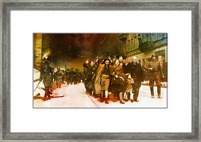 Families Sent  To Death Camps Framed Print