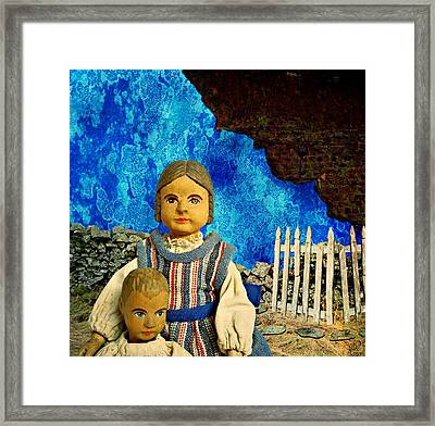 Framed Print featuring the mixed media Family by Ally  White