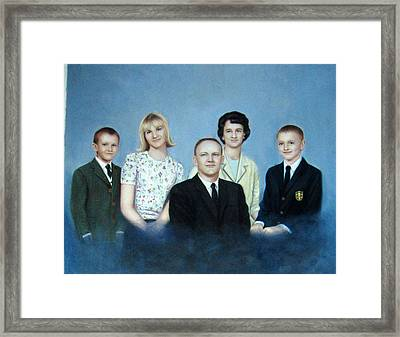 Family Framed Print by Anny Huang