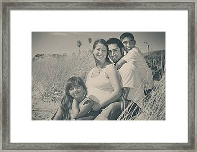 Family Beach Day Framed Print by Laurie Search