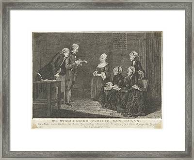 Family Calas In Prison, Christian Friedrich Fritzsch Framed Print