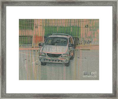 Family Car Framed Print by Donald Maier