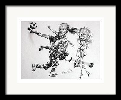 Caricature ist Drawings Framed Prints